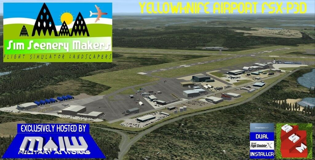 Yellowknife Airport (CYZF) FSX/P3D - Military AI Works