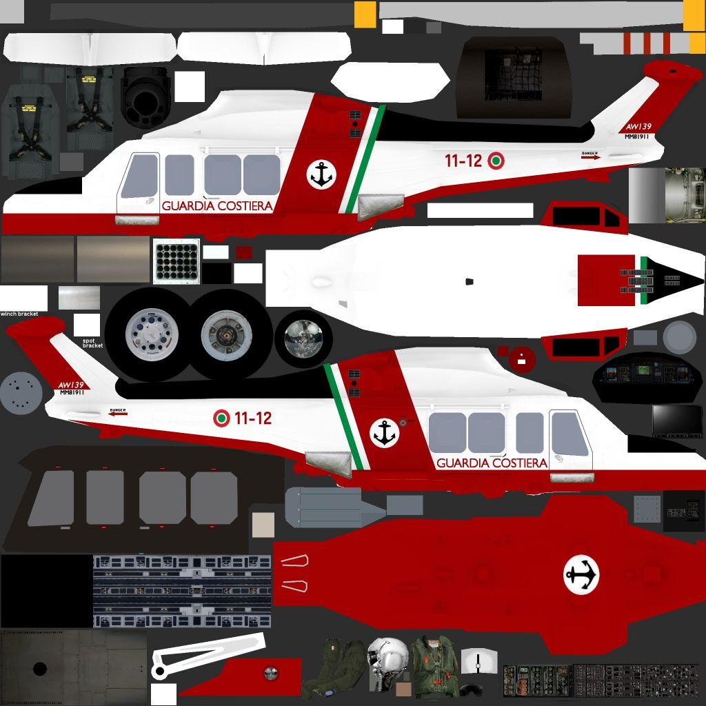 Paintkit Agusta Westland AW139 Helicopters (JYAI) - Military AI Works
