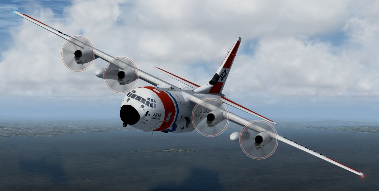 AI Lockheed Martin HC-130J - USCG Elizabeth City, for FSX
