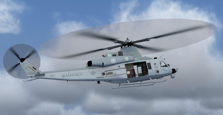 AI Bell AH-1Y Venom for FS9 (JYAI) - Military AI Works