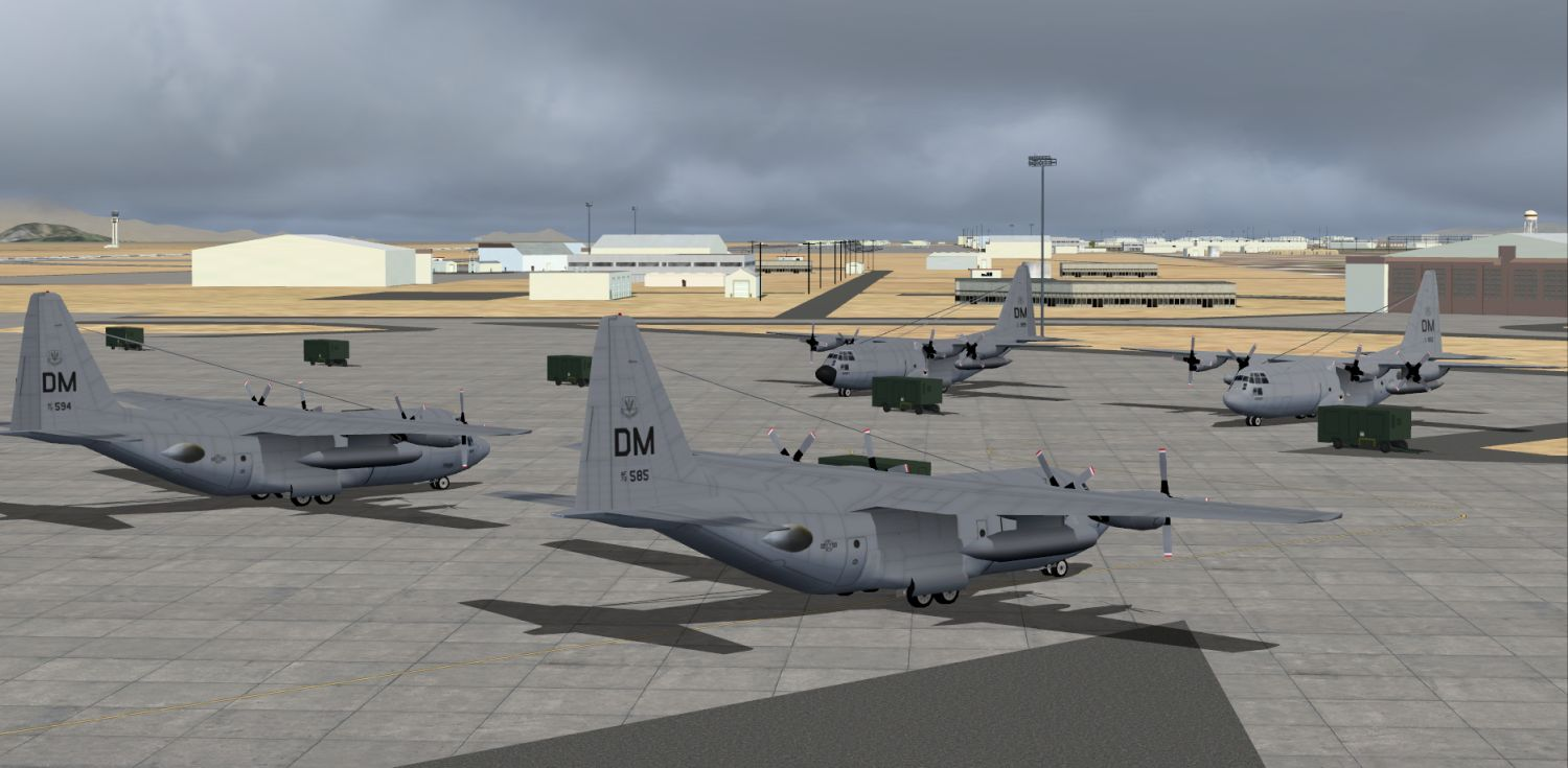 Package KDMA Davis-Monthan AFB - USAF Scenery and AI traffic