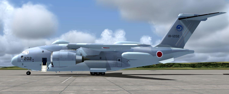 AI Kawasaki C-2's for FSX and P3Dv4 (JYAI) - Military AI Works