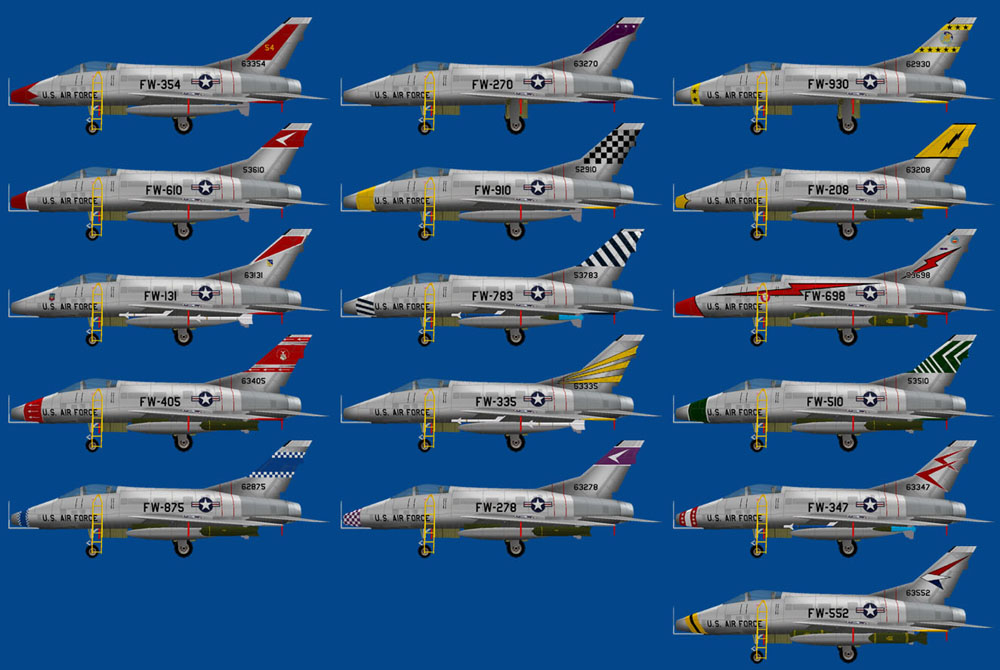 Military ai works aircraft models fs9 this aircraft also known as the hun was the first of a long success of century series fighter aircraft during the 1950s and 1960s publicscrutiny Images