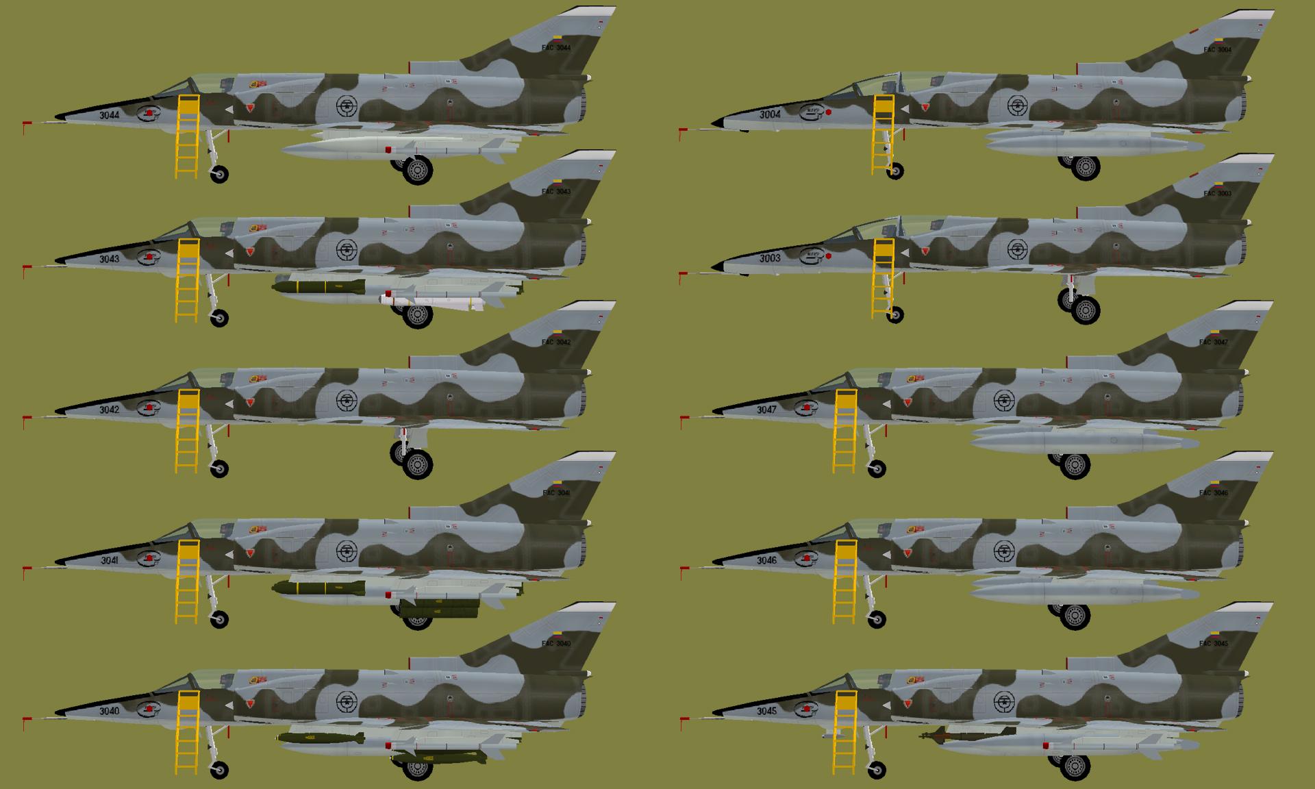 AI IAI Kfir - Colombian AF Kfir C7/TC2 (MPAI) - Military AI Works