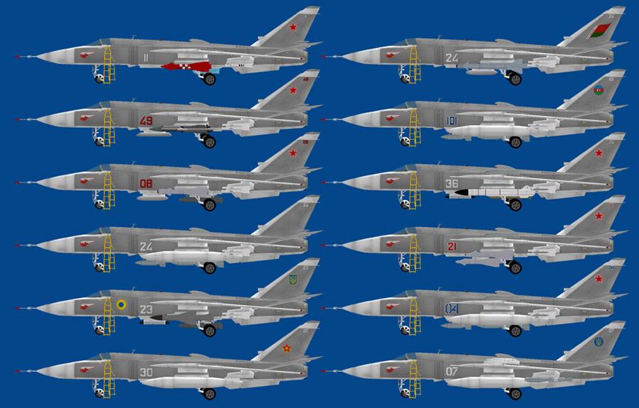AI Sukhoi Su-24 Fencer - Russian AF & Exports Su-24M (MPAI